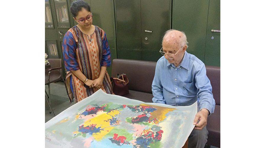 2-Signing Serigraph-Ratan Parimoo-DRS Company