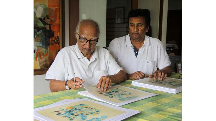 4 - Signing Serigrapg - Vinod Shah - DRS Arts Company