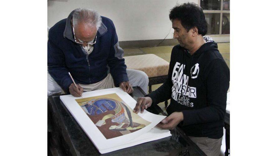 4 - Signing Serigraph - Shanti Dave - DRS Arts Company