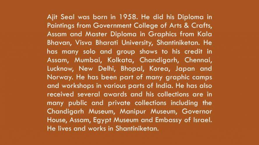 03 - Ajit Seal - Artist bio data - DRS Arts Company