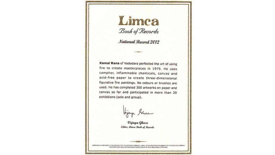 Kamal Rana - Limca Book - DRS Arts Company