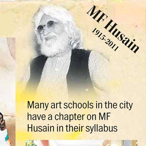 Husain made his mark in art history