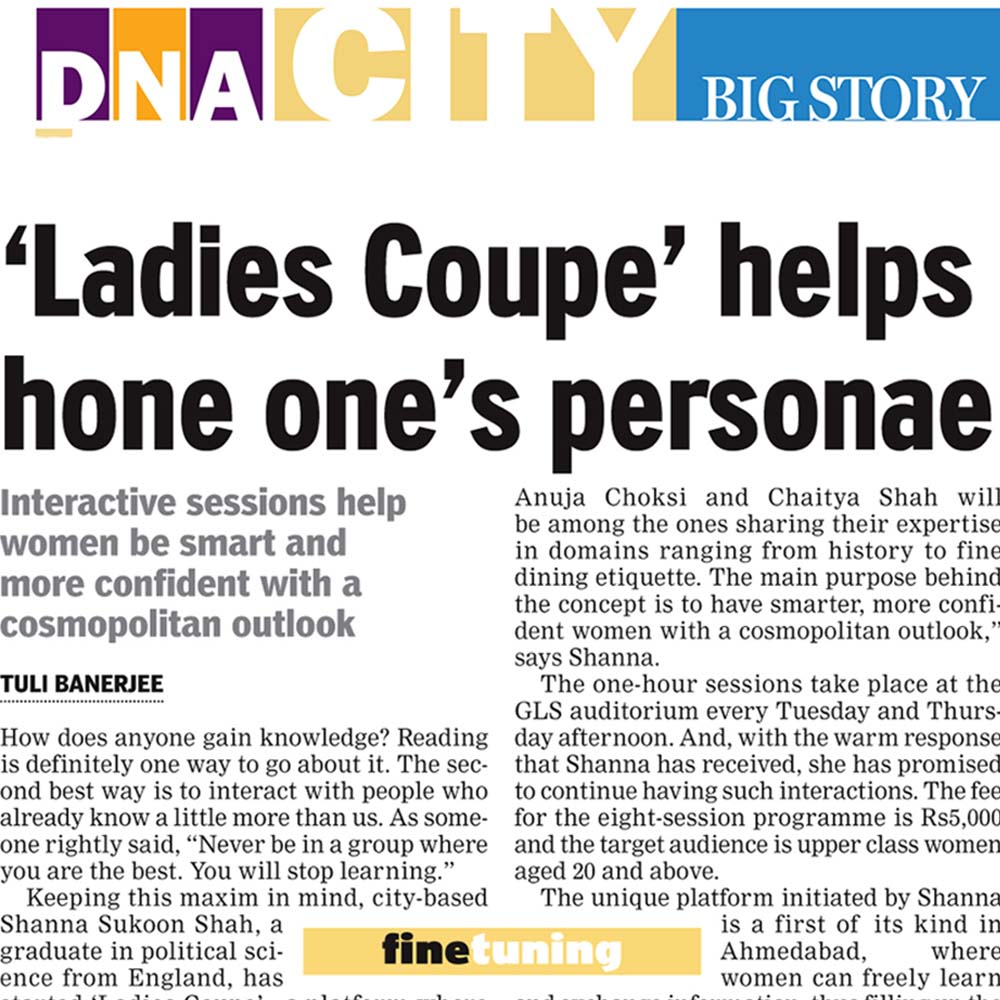 'Ladies Coupe' helps hone one's personae