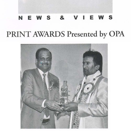 Print Award by OPA