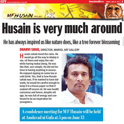 Husain is very much around- A tribute to M.F.Husain