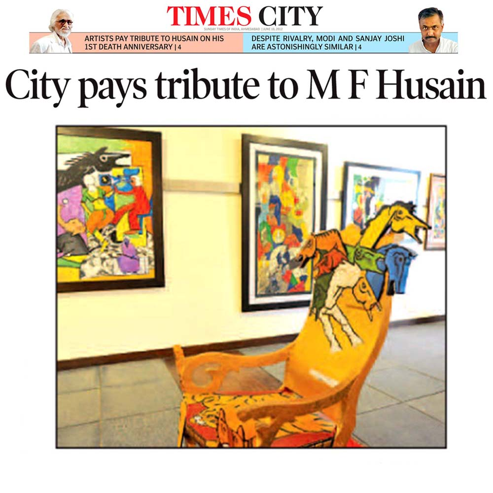City pays tribute to M F Husain