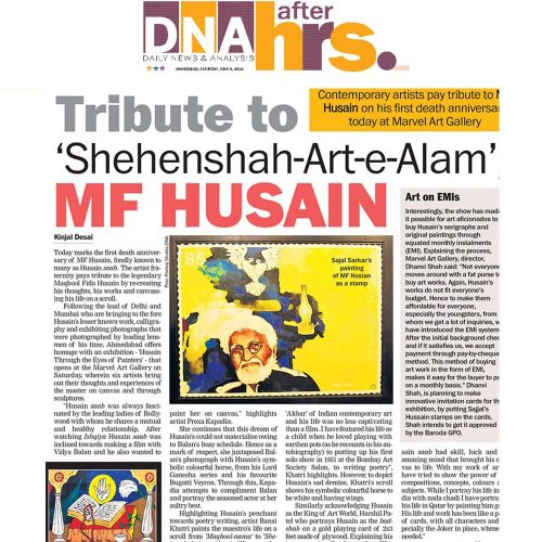 Tribute to 'Shehenshah-Art-e-Alam', MF HUSAIN