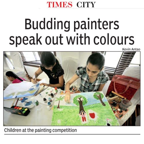 Budding painters speak out with colours