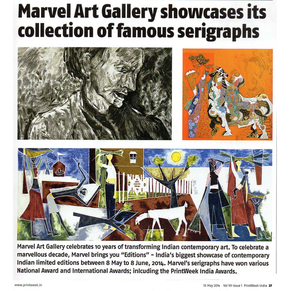 Marvel Art Gallery showcases its collection of famous serigraphs
