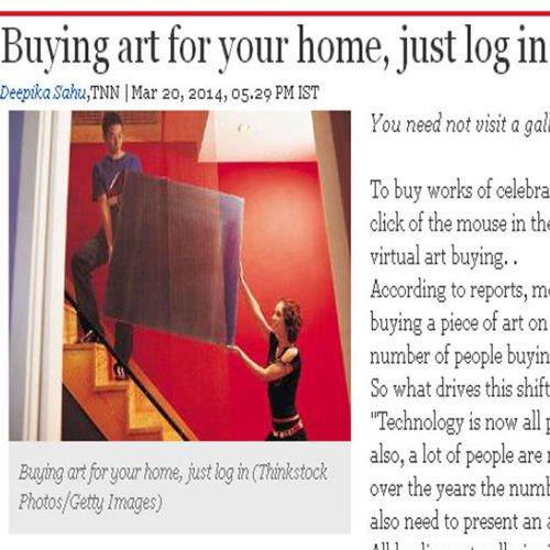 Buying art for your home, just log in
