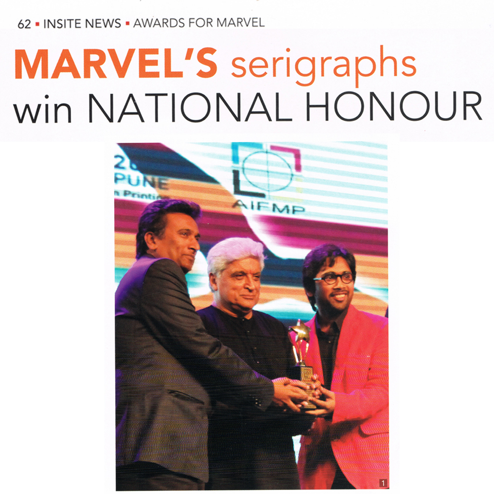 Marvel's Serigraphs win  National Honour