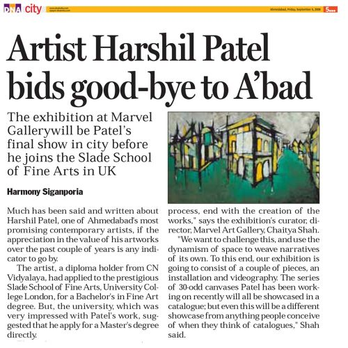 Artist Harshil Patel bids good-bye to A'bad