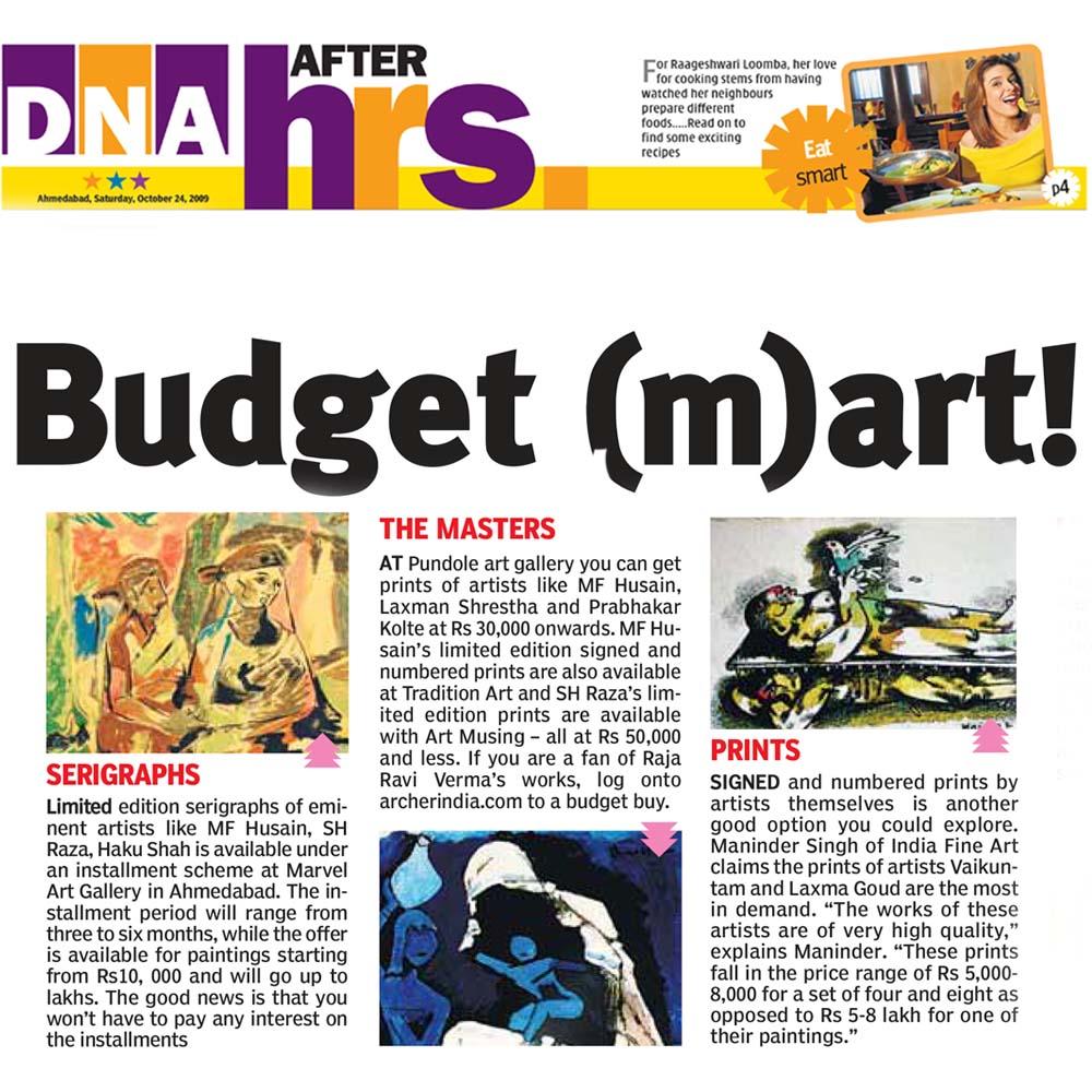 Budget m(art)!