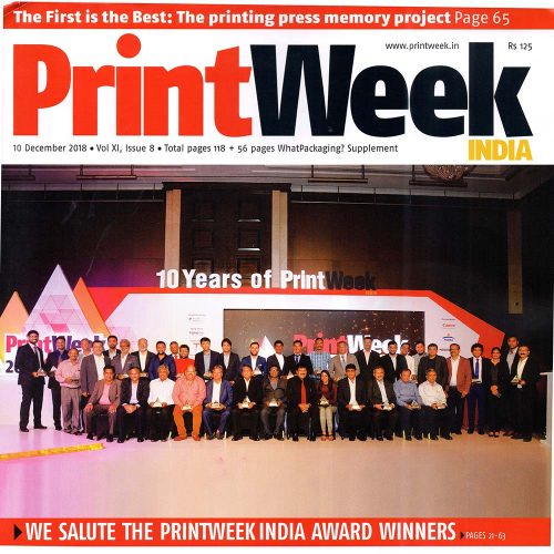 Printweek India Award winners '18