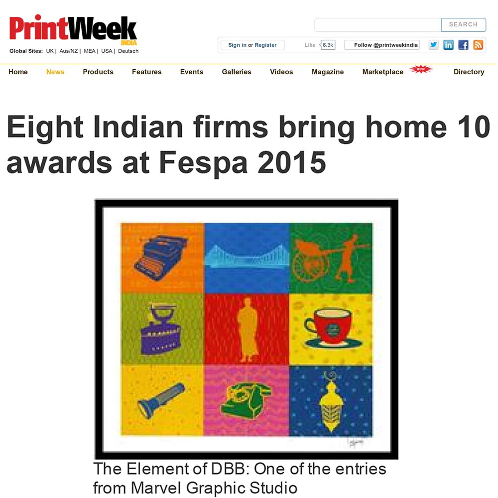 Marvel clinched 3 Awards at FESPA '15